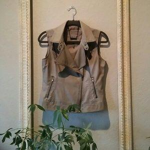 Buffalo David Bitton Vegan Leather Moto Vest